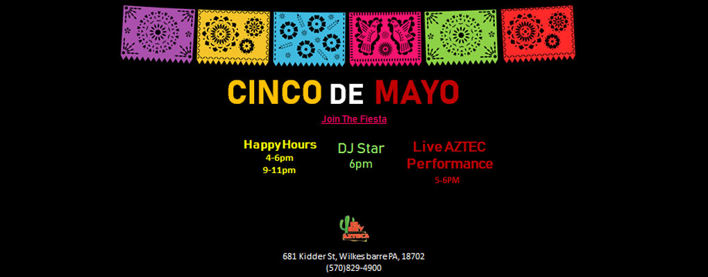 Join Us for Cinco De Mayo!